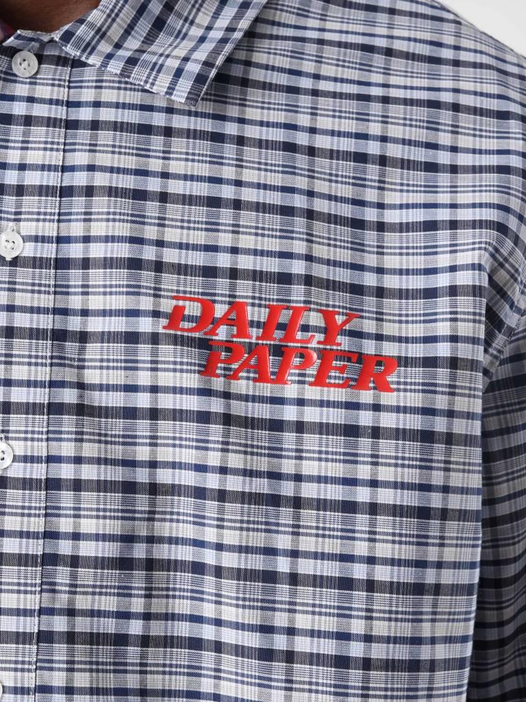 Daily Paper Daily Paper Disibis Shirt Brown White Green Check Green White Blue Stripe 18F1SH08