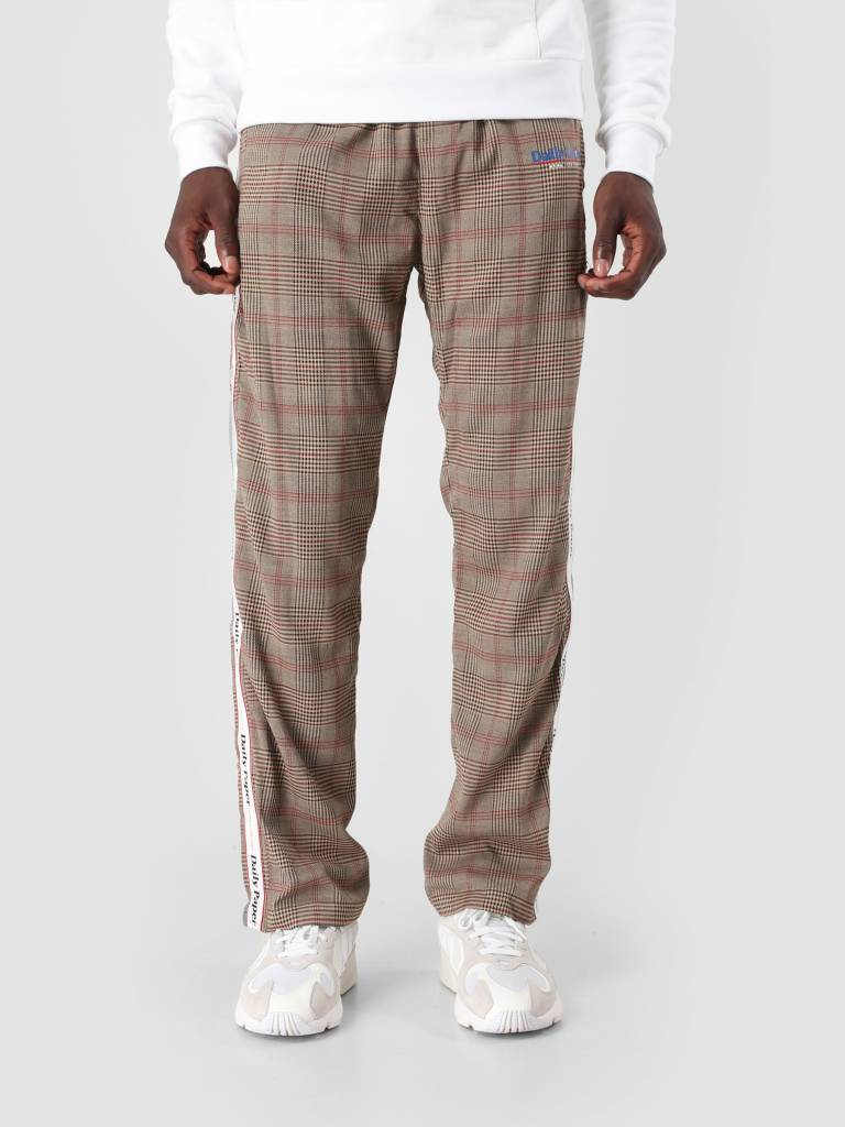 Daily Paper Daily Paper Dezip Pant Brown Black Grey Check 18F1BO05