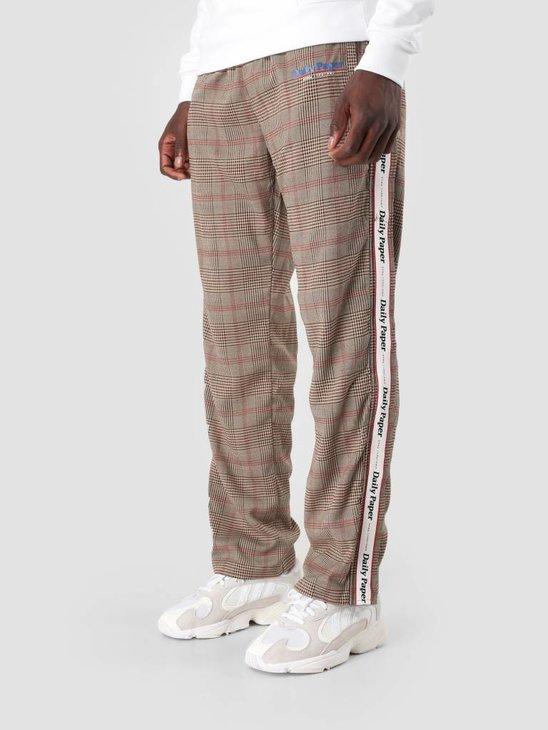 Daily Paper Dezip Pant Brown Black Grey Check 18F1BO05