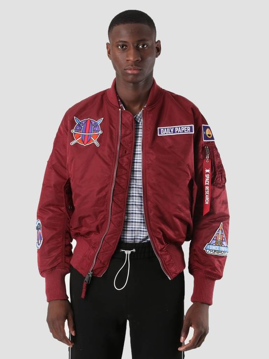 Daily Paper Alpha Industries Mars Mission MA-1 Jacket Bordeuax OW01