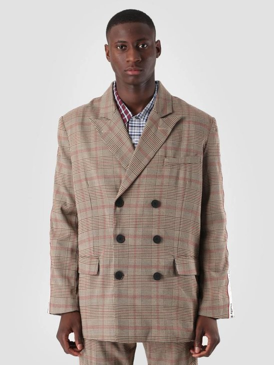 Daily Paper Dune Jacket Brown Grey Black Check 18F1OU15