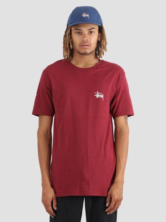 Stussy Basic Stussy T-Shirt Wine 0606