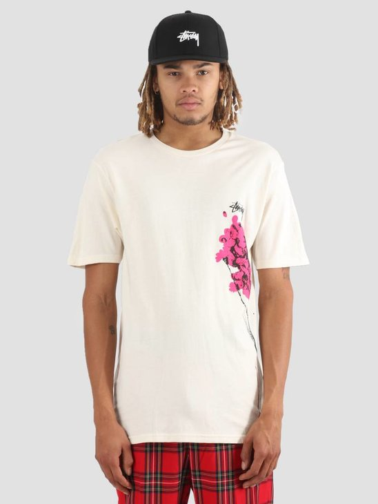 Stussy Dead Flowers T-Shirt Natural 1002