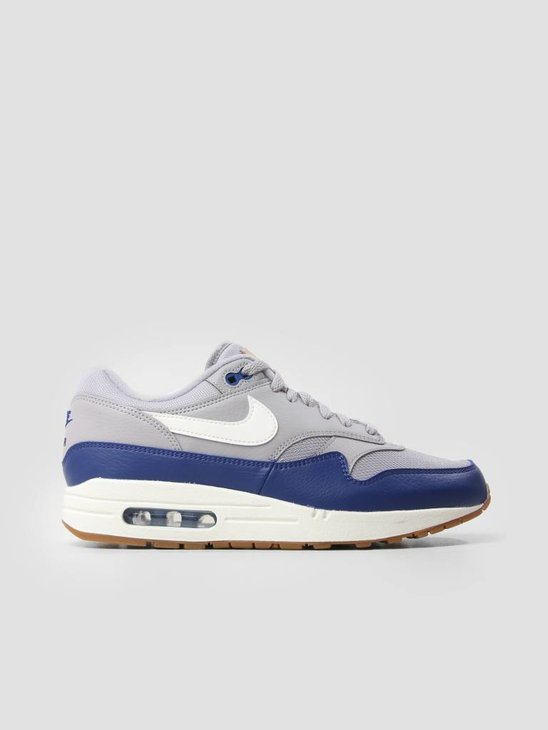 Nike Air Max 1 Shoe Atmosphere Grey Sail Deep Royal Blue Ah8145-008
