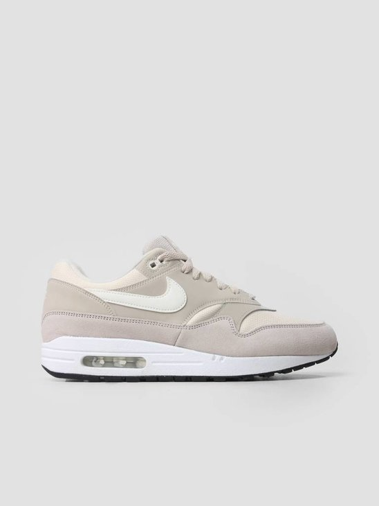 Nike Air Max 1 Shoe String Sail Light Cream Black 319986-207