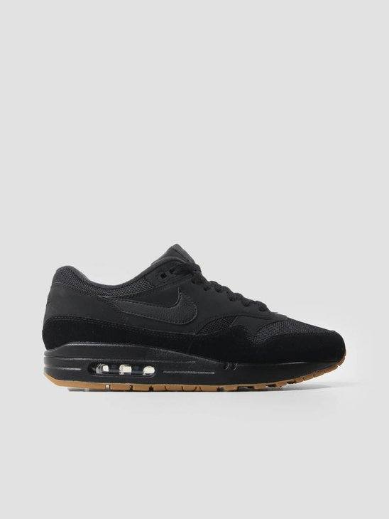 Nike Air Max 1 Shoe Black Black Black Gum Med Brown Ah8145-007