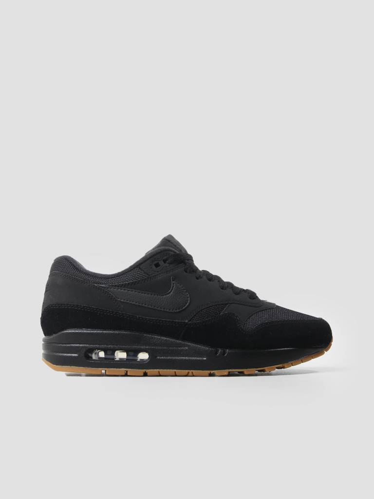 Nike Nike Air Max 1 Shoe Black Black Black Gum Med Brown Ah8145-007