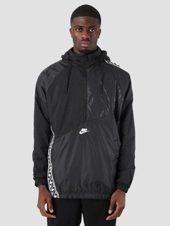 Nike Sportswear Hoodie Black White Ar4941-010