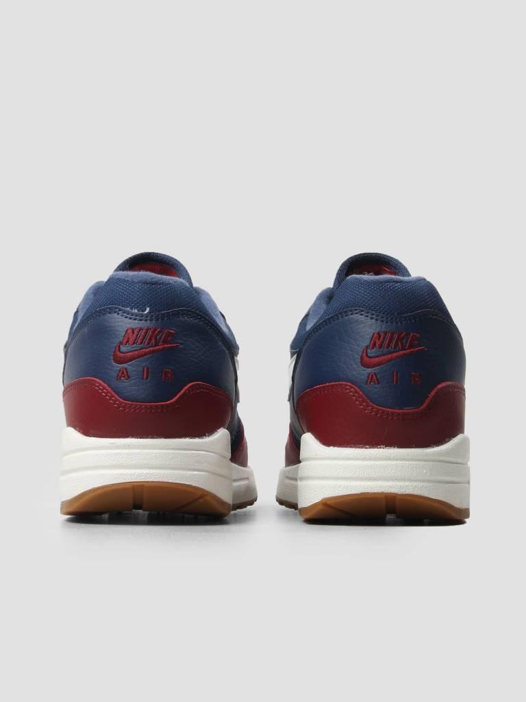Nike Nike Air Max 1 Shoe Navy Sail Team Red Sail Ah8145-400
