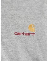 Carhartt WIP Carhartt WIP American Script Polo Longsleeve Grey Heather I025503-V600