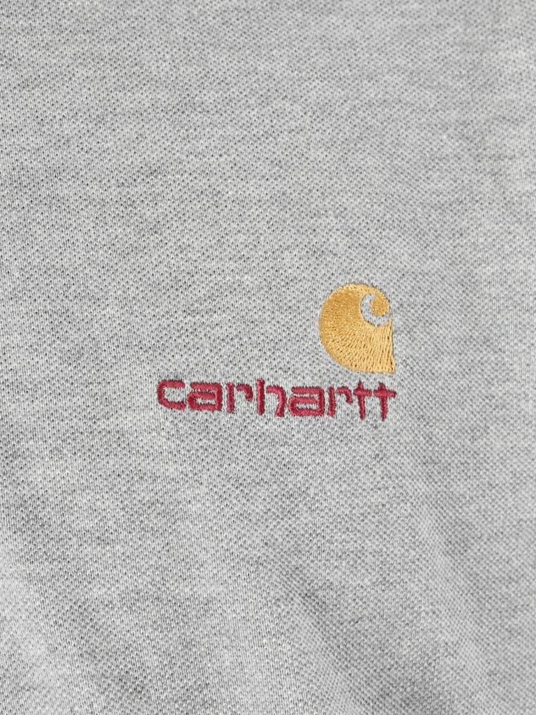 Carhartt Carhartt American Script Polo Longsleeve Grey Heather I025503-V600