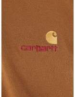 Carhartt WIP Carhartt WIP American Script Polo Longsleeve Hamilton Brown I025503-HZ00