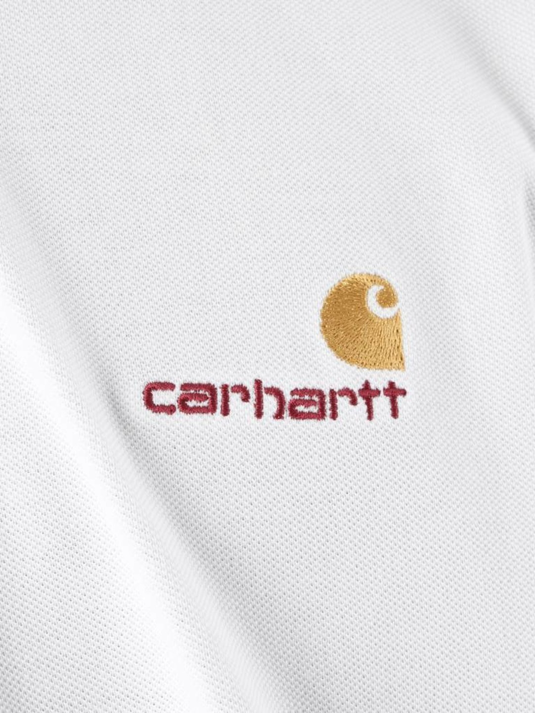 Carhartt WIP Carhartt WIP American Script Polo Longsleeve White I025503-200