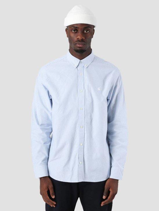 Carhartt Duffield Shirt Duffield Stripe Bleach White I025245-KY90