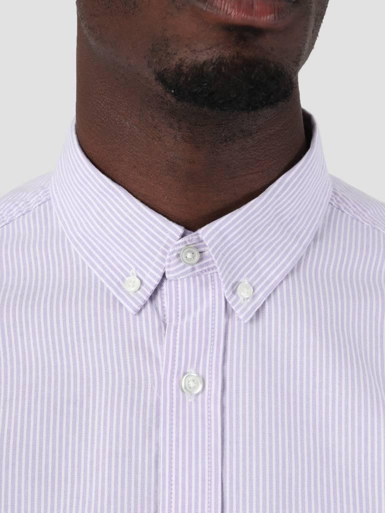 Carhartt Carhartt Duffield Shirt Duffield Stripe Soft Purple White I025245-88790