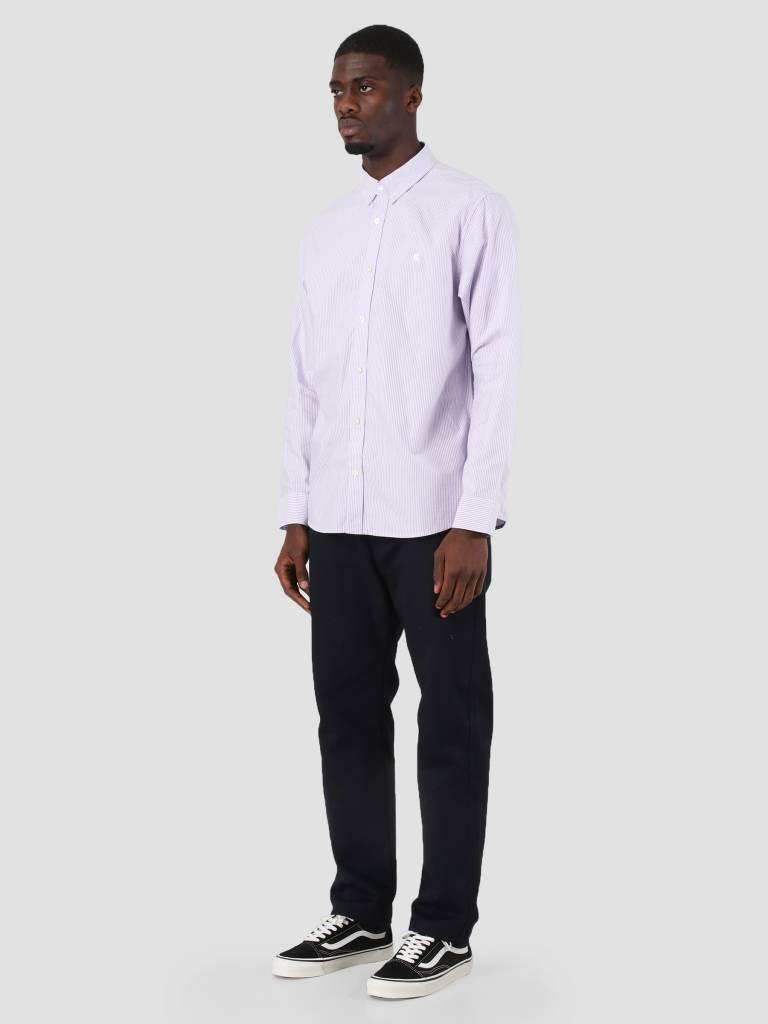 Carhartt WIP Carhartt WIP Duffield Shirt Duffield Stripe Soft Purple White I025245-88790