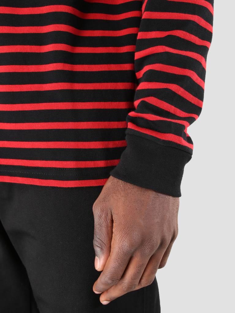 Carhartt Carhartt Robie Longsleeve Stripe Black Blast Red Quince I022005-8990