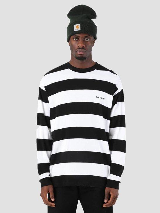 Carhartt Roslyn Longsleeve Stripe Black White I026058-8990