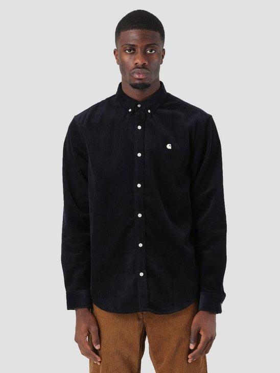 Carhartt WIP Madison Cord Shirt Dark Navy Wax I025247-1C90