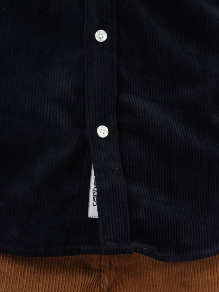 Carhartt Carhartt Madison Cord Shirt Dark Navy Wax I025247-1C90