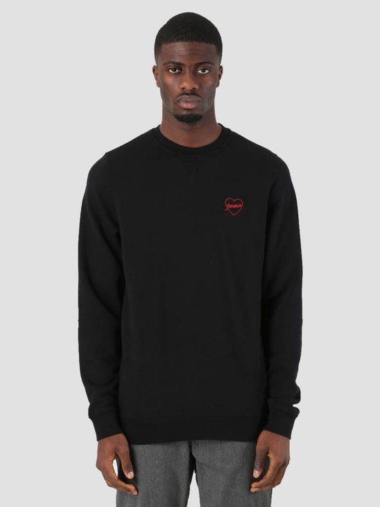 Ceizer Amour Embroidery Crewneck Black