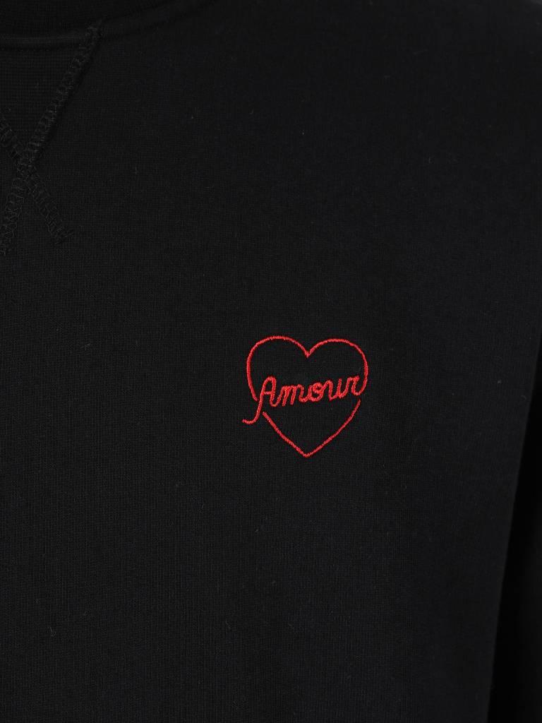 Ceizer Ceizer Amour Embroidery Crewneck Black