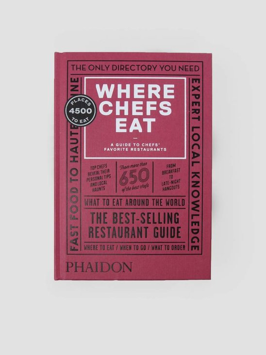 Books Phaidon Where Chefs Eat
