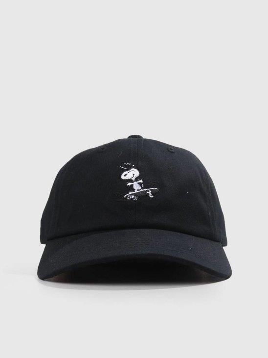 HUF Peanuts Snoopy Sk8 6 Pnl Cv Ha Black HT00338
