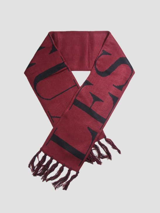 Les Deux Fan Scarf Burgundy Black LDM910003