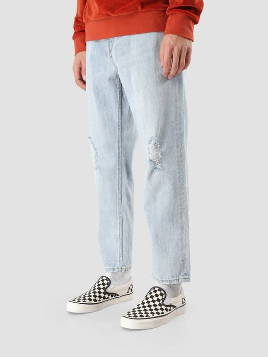 Obey Bender 90's Denim Destoryed Indigo Pants 142010050 Din