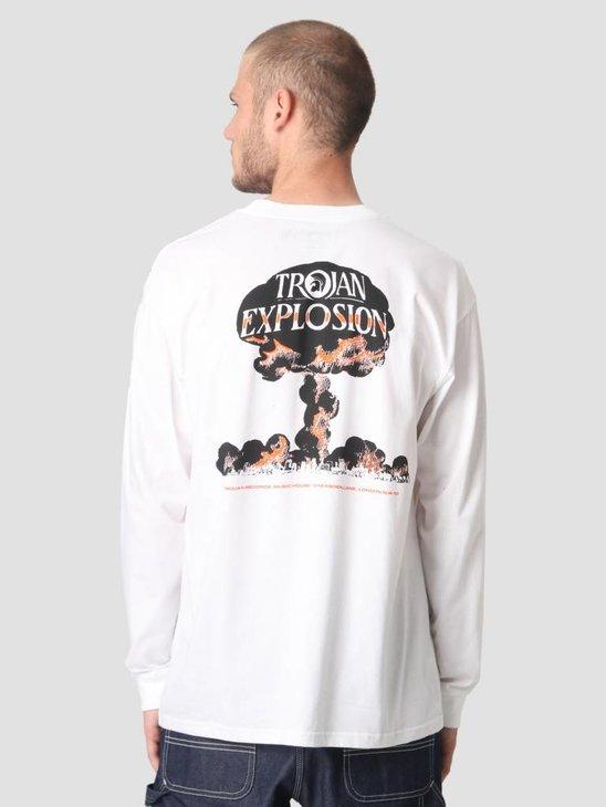 Carhartt WIP Longsleeve TROJAN Explosion T-Shirt Trojan White