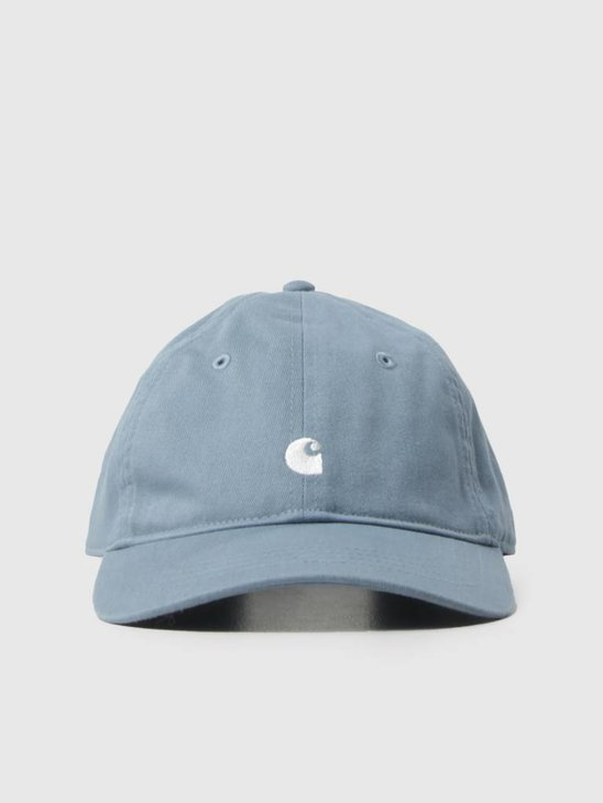 Carhartt WIP Madison Logo Cap Dusty Blue White I023750-97500