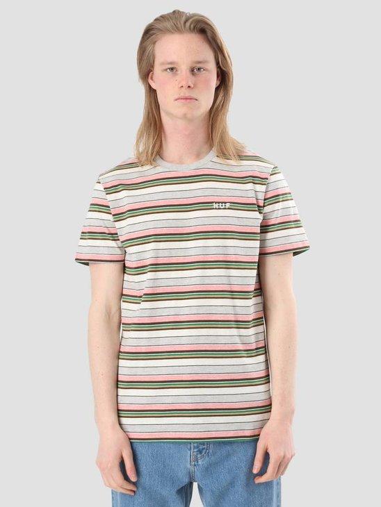 HUF Off Shore Stripe T-Shirt Pink KN00056PINK