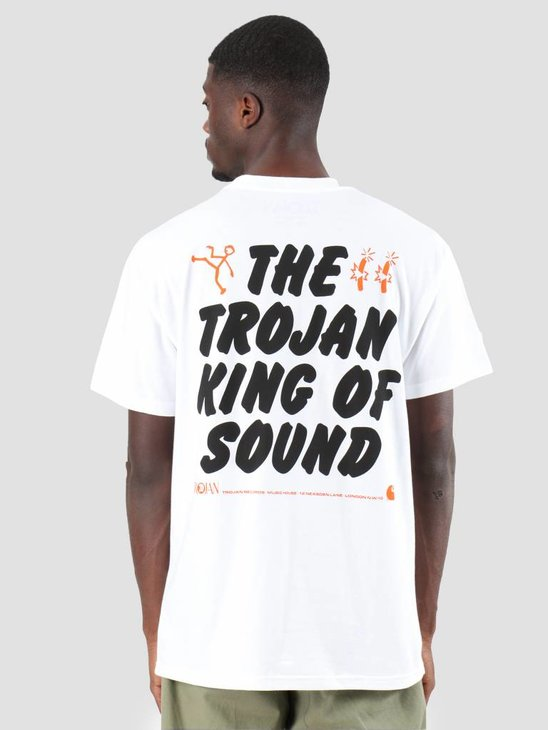 Carhartt T-Shirt TROJAN King Of Sound  Trojan White