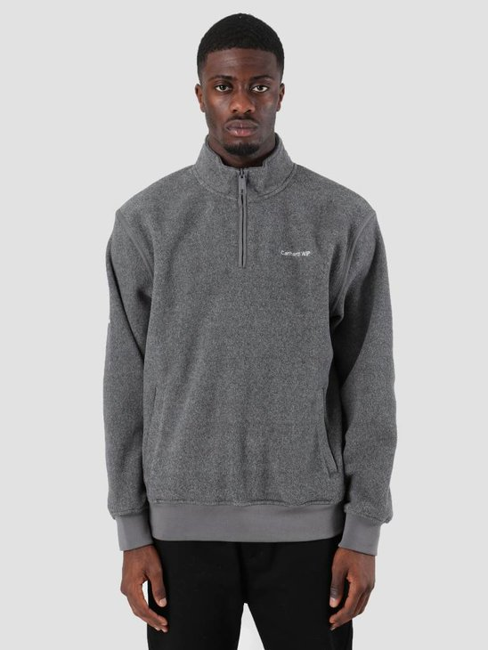 Carhartt Ailey Sweat Dark Grey Heather White I025474-ZM90