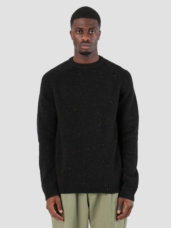 Carhartt WIP Anglistic Sweater Black Heather I010977-BT91