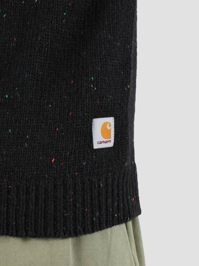 Carhartt Carhartt Anglistic Sweater Black Heather I010977-BT91
