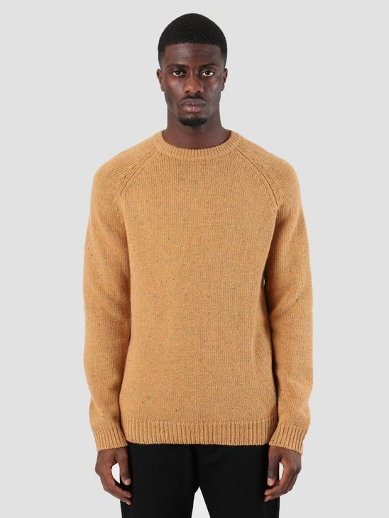 Carhartt Anglistic Sweater Fawn Heather I010977-89900