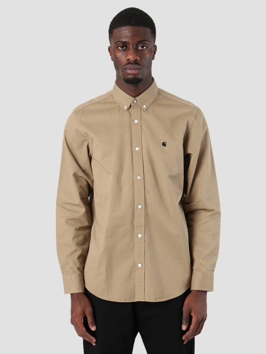 Carhartt Madison Shirt Leather Black 8Y91