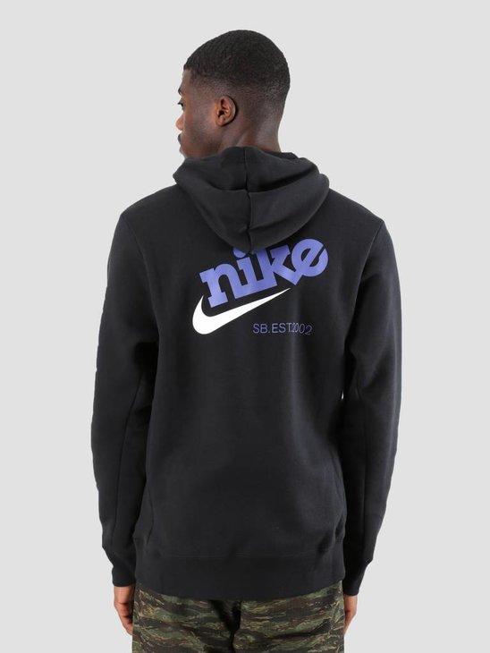 Nike SB Icon Hoodie Black White 938350-010