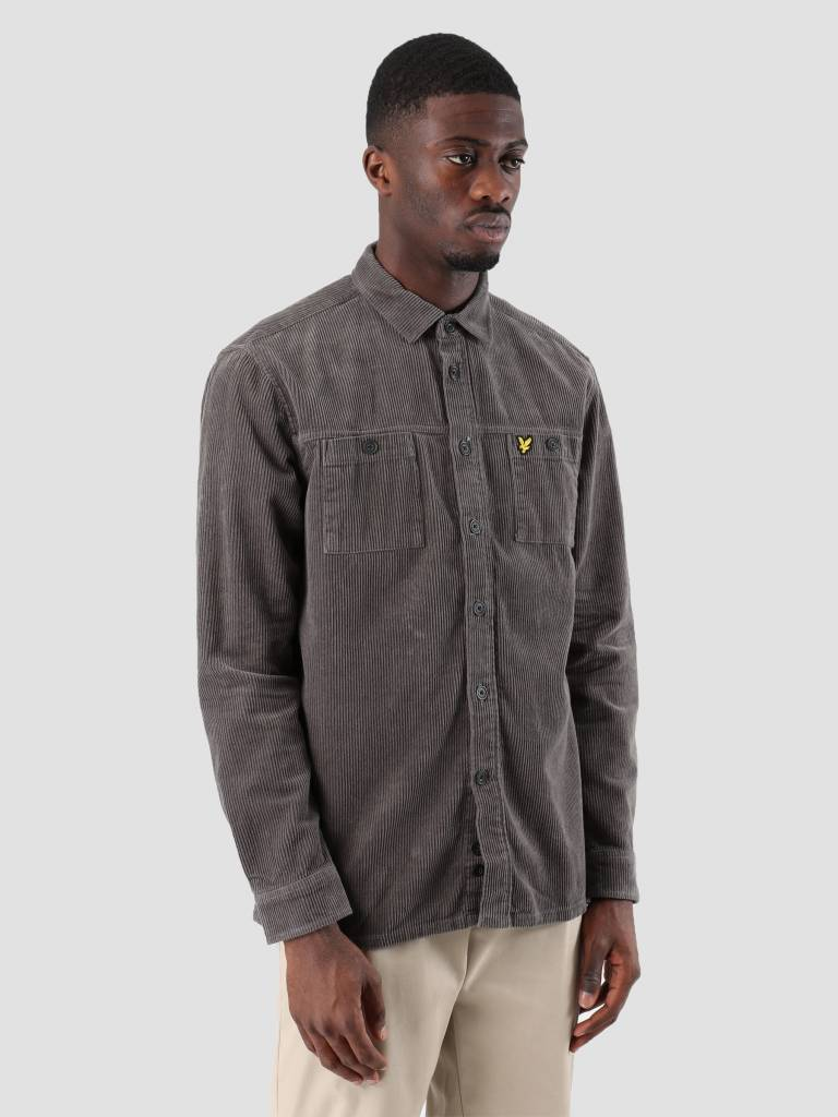 Lyle and Scott Lyle and Scott Cord Overshirt Urban Grey LW907V
