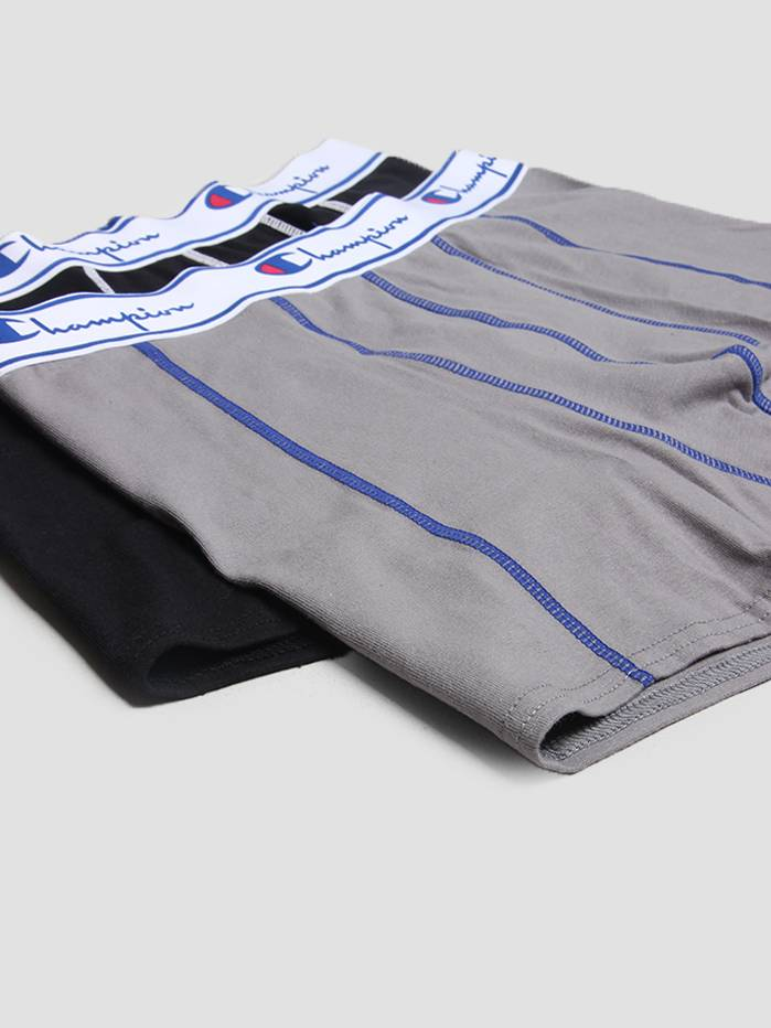 Champion Champion Boxer Cotton Grey Black 372001
