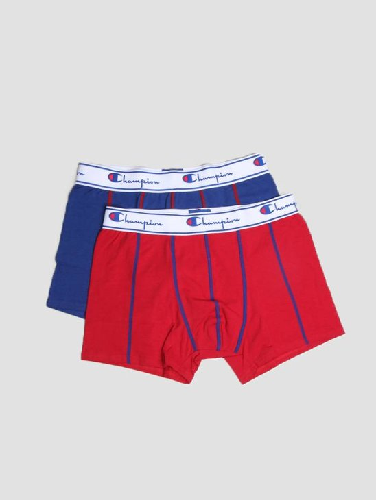 Champion Boxer Cotton Red Royal Blue 372001