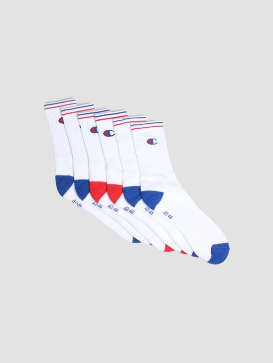 Champion Crew Socks Performance White Colored Logo 373003
