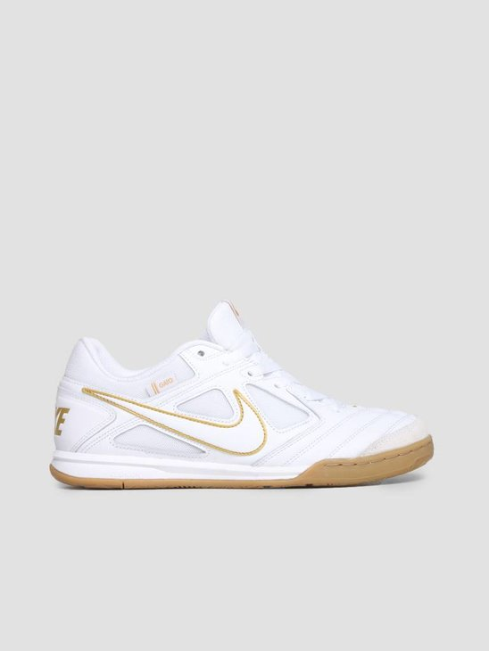 Nike SB Gato White White Metallic Gold At4607-100