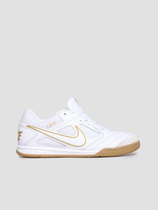 Nike SB Gato White White Metallic Gold At4607-100