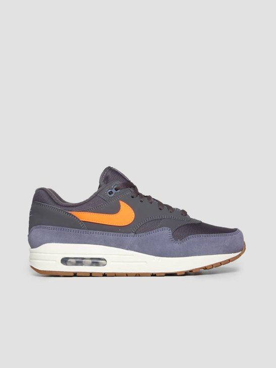 Nike Air Max 1 Shoe Thunder Grey Total Orange Light Carbon Ah8145-010