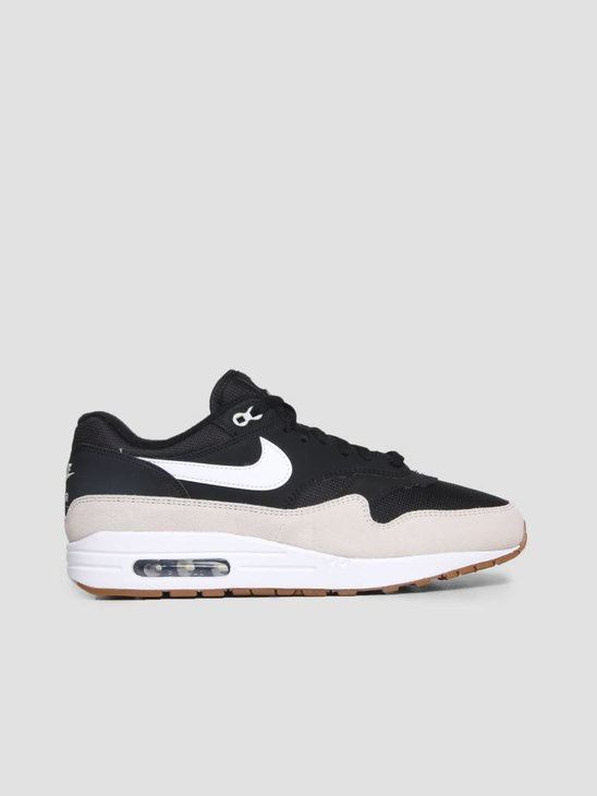 Nike Air Max 1 Shoe Black White Light Bone Ah8145-009