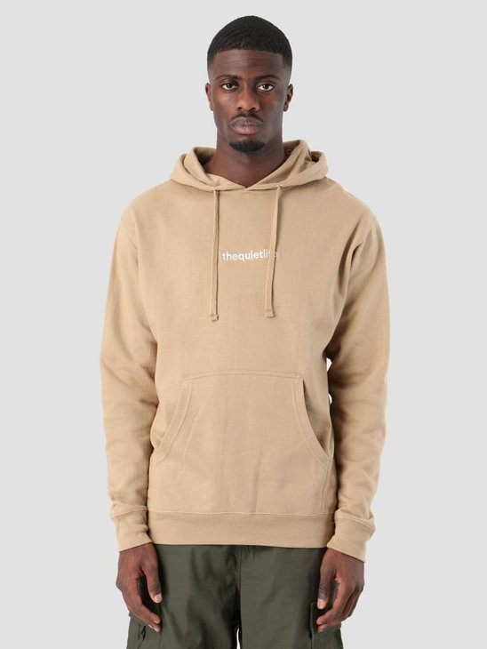 The Quiet Life Embroidered Origin Pullover Hoodie Sand 18FAD2-2138-SAND