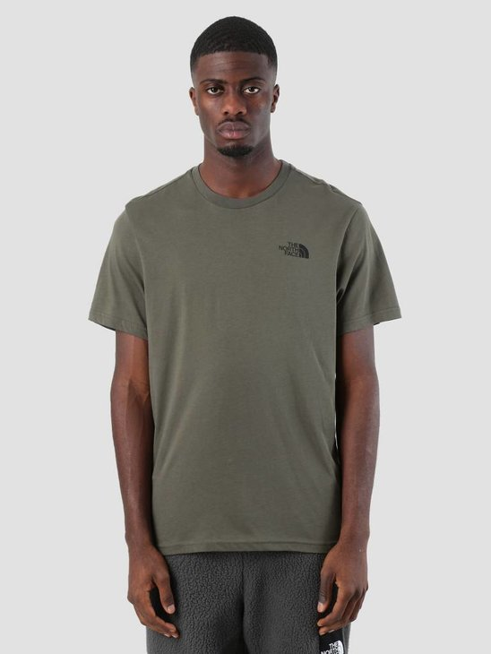 The North Face Simple Dome T-Shirt New Taupe Green TNF Black T92TX5BQW